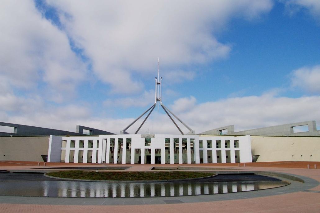 Rund eine Millionen Touristen besuchen jährlich das Parliament House in Canberra.