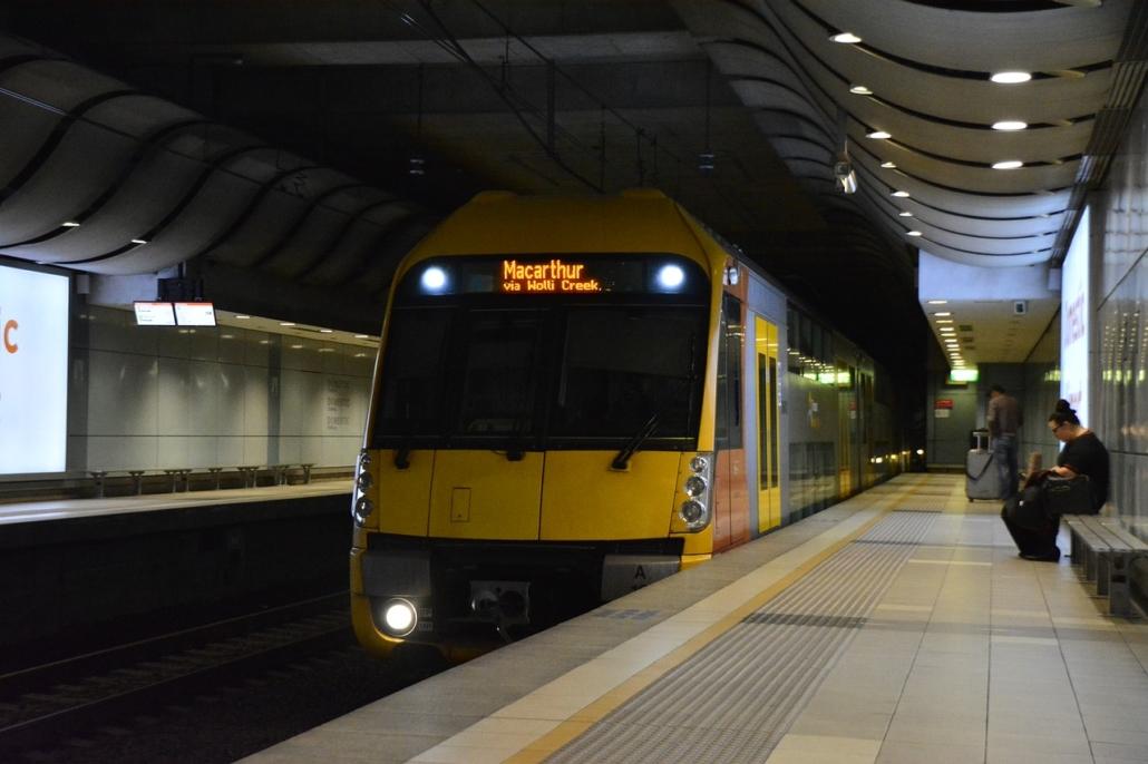 Öffentlicher Nahverkehr Anreise Zug Sydney Australien