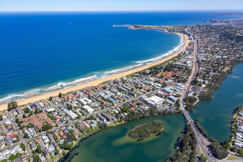 Vororte Sydney Australien Narrabeen to Long Reef Aerial