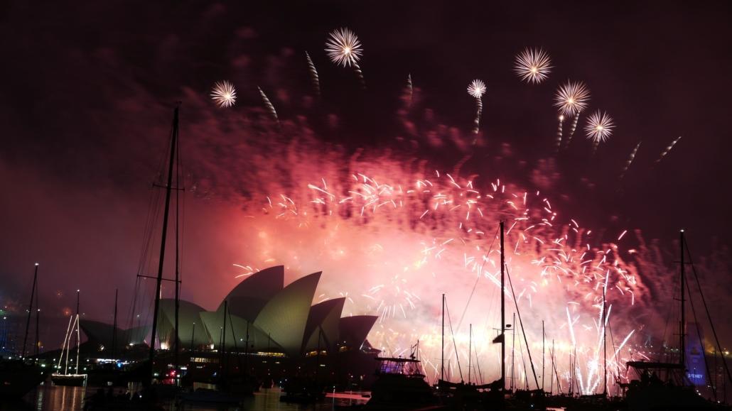 Begehrt ist der Platz direkt am berühmten Opernhaus in Sydney zu Silvester