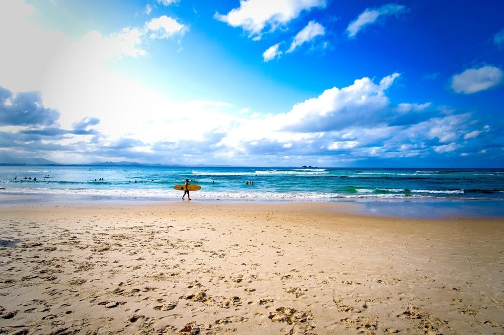 Die schönsten Badeorte Australien liegen in Bayron Bay