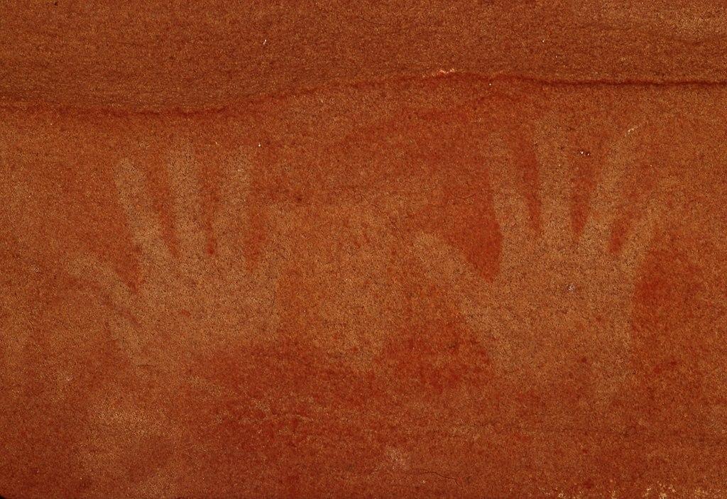 Felsmalereien der Aborigines - Red Hands Cave
